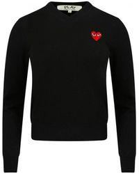 COMME DES GARÇONS PLAY N029 V-neck Sweater Black