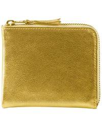 Comme des Garçons Sa3100g Gold Line Wallet Gold - Multicolour