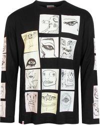 Charles Jeffrey LOVERBOY Le Fresh Peeps Long Sleeve T-shirt - Black