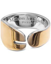 Maison Margiela Gold-tone Tabi Ring - Metallic