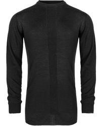Rick Owens Oversized Round Neck Sweater Black