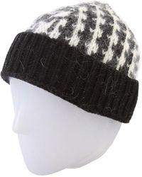 Thom Browne Chunky Knit Merino Mohair Blend Hat - Black