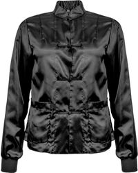 Comme des Garçons Mandarin Collar Jacket - Black