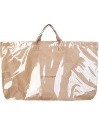 Comme des Garçons Coated Kraft Paper Tote Bag - Multicolour