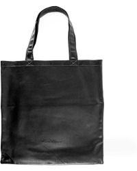 Rick Owens Large Signature Leather Tote Bag - Black
