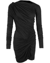 Rick Owens Lilies Phlegethon Gathered Dress Black
