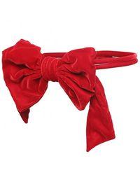 MM6 by Maison Martin Margiela Velvet Waist Bow Belt - Red