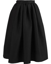 MSGM Textured Pattern Skirt - Black