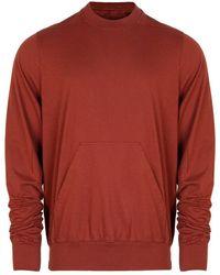 Rick Owens DRKSHDW Granbury Long Sleeved T-shirt Cherry - Red