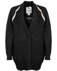 Y-3 Classic Textured Sheer Knit Cardigan - Black