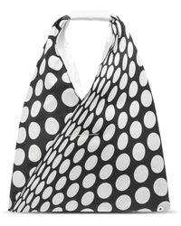 MM6 by Maison Martin Margiela Small Polka Dot Japanese Tote Bag - Black