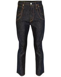 Junya Watanabe Junya Watanabe Man X Levi's Straight Leg Pocket Detail Jeans - Blue