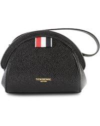 Thom Browne Pebble Grain Leather Vanity Coin Purse Black