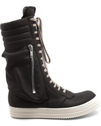 Rick Owens Cargo Basket Sneakers - Black