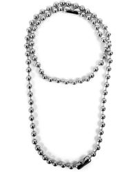 MM6 by Maison Martin Margiela Chunky Round Chain Necklace - Metallic
