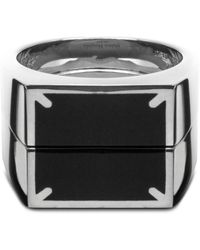 Maison Margiela Polished Silver Stackable Signet Ring - Metallic
