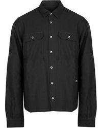 Rick Owens Drkshdw Woven Cotton Jacket Black