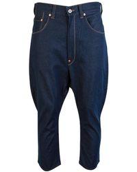 Junya Watanabe Indigo Westpoint Tapered Jeans - Blue