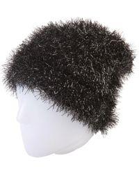 939aeccbe Fleece Lined Textured Shimmer Beanie Hat Black