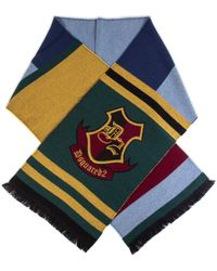 DSquared² Wool Varsity Style Scarf - Multicolor