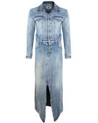 MM6 by Maison Martin Margiela Denim Jumpsuit Dress - Blue