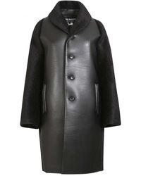 Junya Watanabe Alpaca Fur Trim Coat - Black