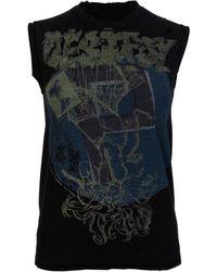 Y's Yohji Yamamoto Distressed Sleeveless T-shirt Black