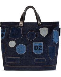 DSquared² Large Denim Tote Bag - Blue