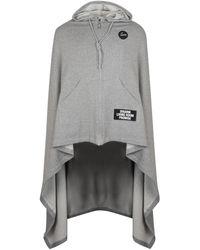 Raf Simons Medium Length Cape Hoodie Grey