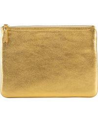 Comme des Garçons Sa5100g Gold Line Wallet Gold - Metallic