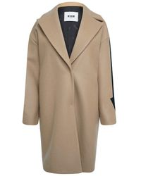 MSGM Single Breasted Arrow Jacket Brown - Natural
