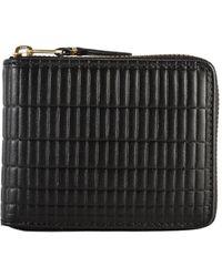 Comme des Garçons Sa7100bk Brick Line Zip Wallet Black