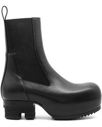 Rick Owens - Leather Beetle Ballast Boots - Lyst