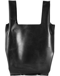 Comme des Garçons Large Rubber Tote Bag - Black