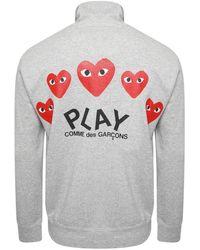 COMME DES GARÇONS PLAY T252 Red Heart Track Jacket Grey