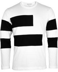 Comme des Garçons Contrast Panel Long Sleeve T-shirt - Black