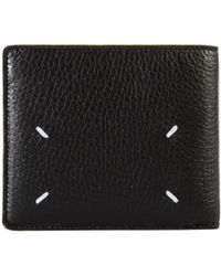 Maison Margiela Leather Bi-fold Wallet Black/yellow