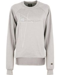 Rick Owens X Champion Vega Sweatshirt Oyster - Grey