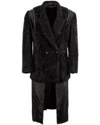 Comme des Garçons Double Layered Faux Fur Coat L - Black