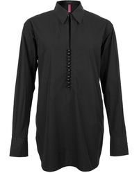 Y's Yohji Yamamoto Ball Button Poplin Shirt Black