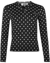 COMME DES GARÇONS PLAY N035 Polka Dot Sweater Black
