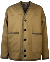 DSquared² Collarless Wool Lined Coat - Multicolour