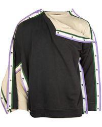 Y. Project Double Snap Sweatshirt - Grey