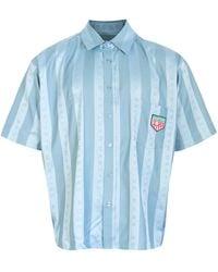 Martine Rose Duel Short Sleeve Shirt - Blue