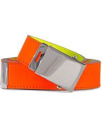 Comme des Garçons Super Fluo Leather Belt Orange/yellow