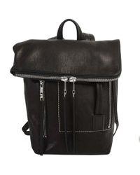 Rick Owens Leather Mini Duffle Backpack Black