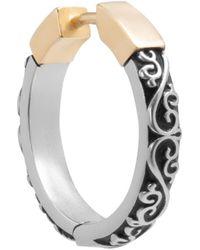 Maison Margiela Spliced Silver/gold-tone Earring - Metallic