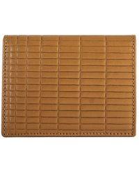 Comme des Garçons - Sa0641bk Brick Line Wallet Beige - Lyst