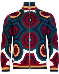 Charles Jeffrey LOVERBOY Merino Wool Hex Track Top - Multicolour