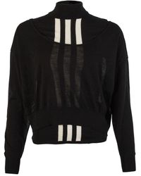 Y-3 Knitted Cropped Jumper - Black
